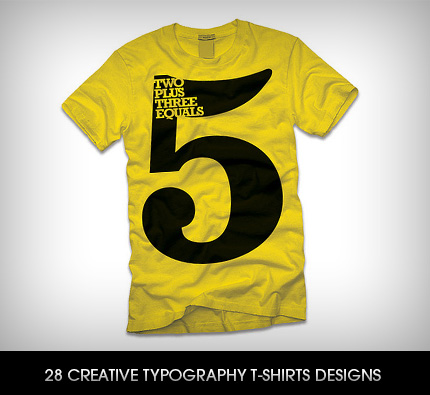 28 creative typography t shirts designs
